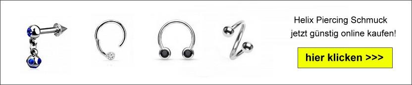 Helix Piercing Ringe online bestellen